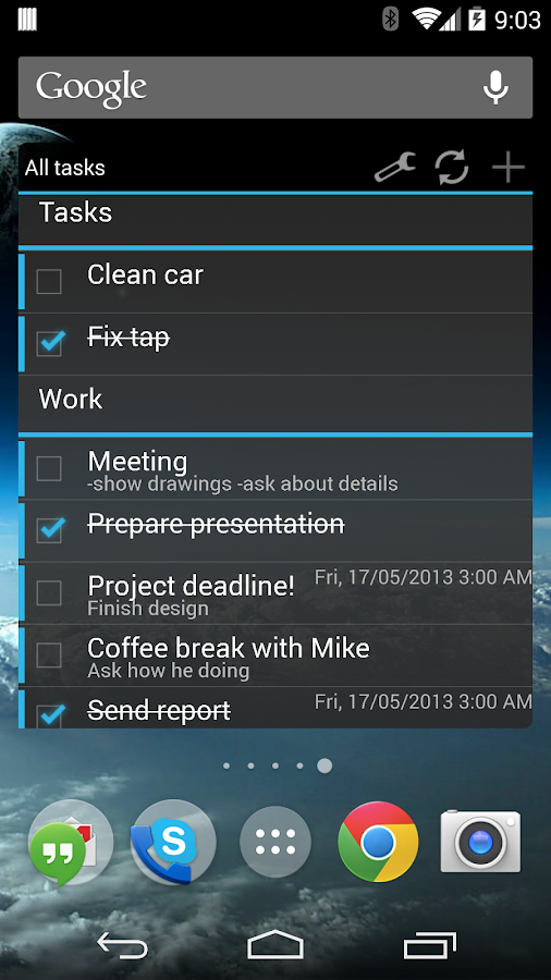 Tasks + Calendar Sync - screenshot