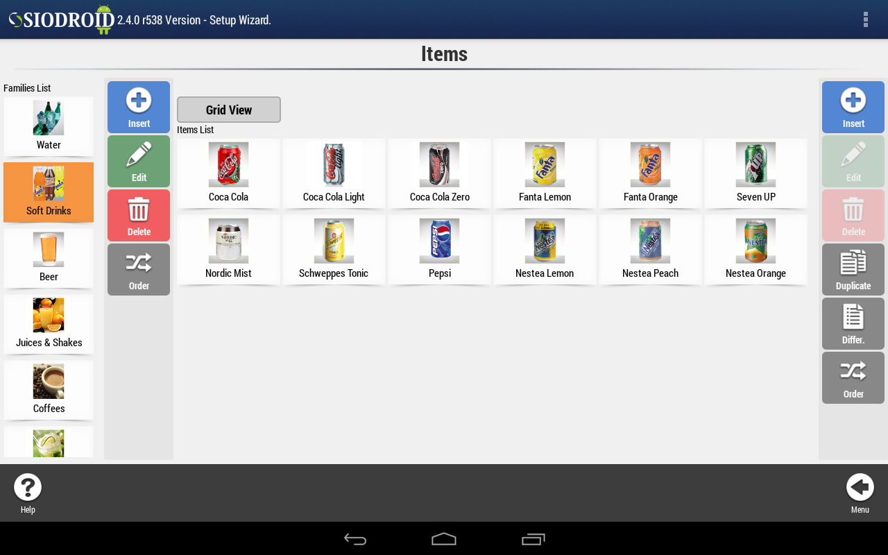 SIODROID Point of Sale (DEMO) - screenshot