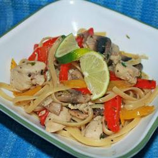 Lime Chicken and Mushroom Pasta