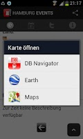 Screenshot of HAMBURG EVENTS › Eventguide