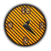 Orange Striped Clock + alarm