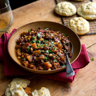 Thanksgiving Mixed Bean Chile With Corn and Pumpkin