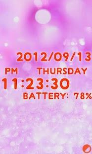 Cute clock battery Free Editio- screenshot thumbnail