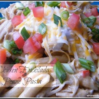 Chicken Enchilada Penne Pasta.