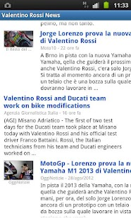 Valentino Rossi News- screenshot thumbnail