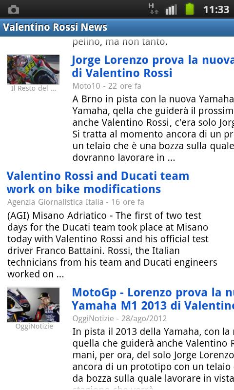 Valentino Rossi News - screenshot