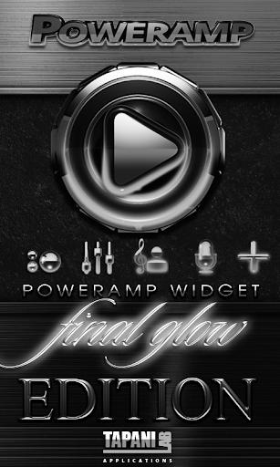 Poweramp skin widget White G.