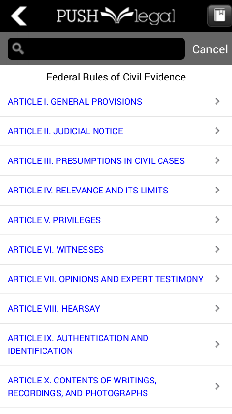 Statutes and Case Law Library- screenshot