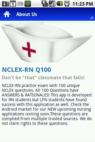 NCLEX-RN Q100 - screenshot