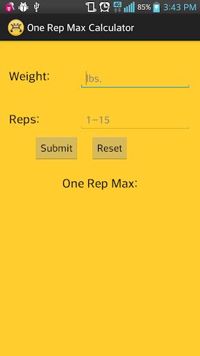 1 Rep Max Calc