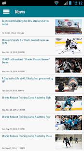 San Jose Sharks Official App- screenshot thumbnail