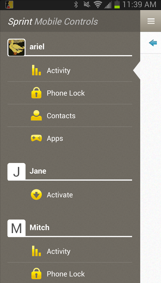 Sprint Mobile Controls - screenshot