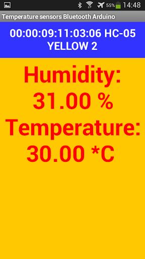 Thermometer Bluetooth Arduino