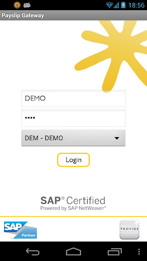 Payslip for SAP Gateway