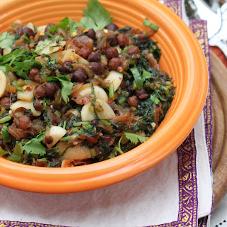 Turnips with Greens and Brown Chickpeas