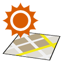 Sunrise Sunset on the Map icon