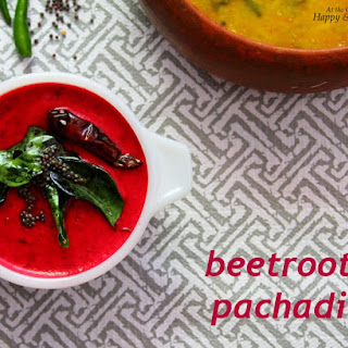 Beetroot Pachadi (Beetroot in A Mild Coconut And Yogurt Gravy)