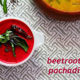 Beetroot Pachadi (Beetroot in A Mild Coconut And Yogurt Gravy).