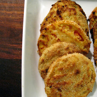 Paleo Oven Fried Green Tomatoes.