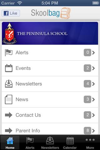 The Peninsula School Skoolbag - screenshot