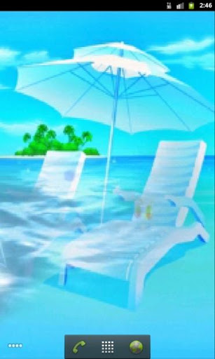 Beach Vacation Live Wallpaper