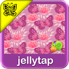Pink Butterfly Go SMS Theme icon