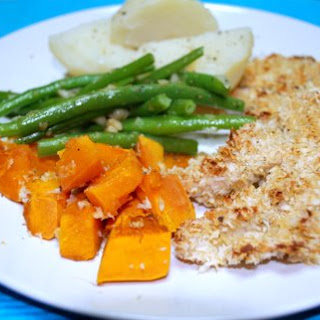 Crispy Mustard Chicken With Buttered Haricot Verts