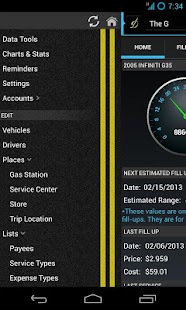 DriverDiary - Gas Mileage Screenshot 2