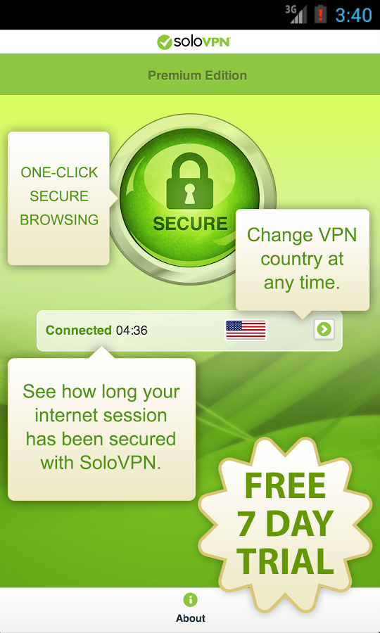 SoloVPN Anonymous, Safe & Fast - screenshot
