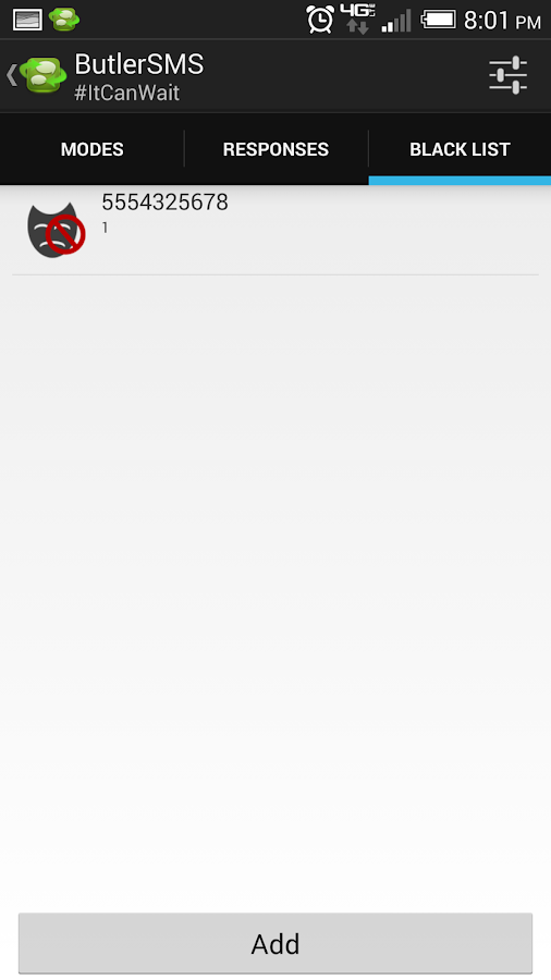 ButlerSMS Auto SMS Response - screenshot