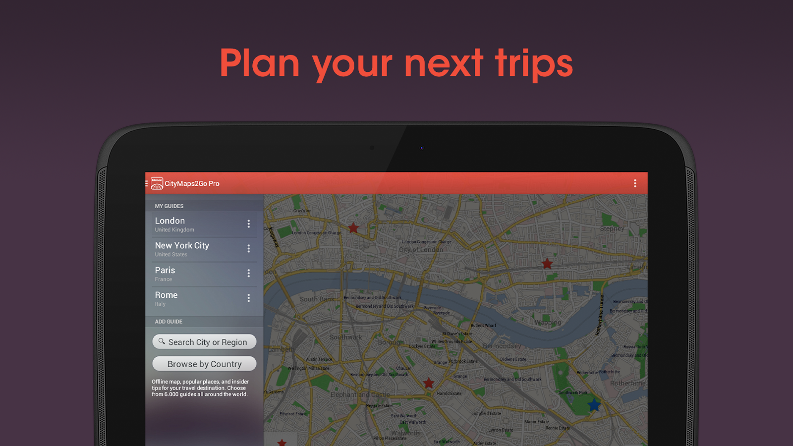 City Maps 2Go Pro Offline Maps- screenshot