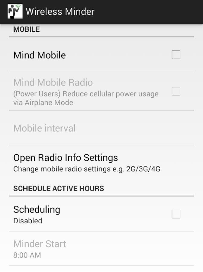 Wireless Minder - screenshot