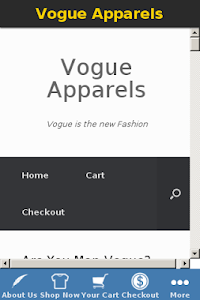 Vogue Apparels screenshot 1