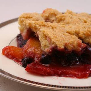Peach and Berry Cobbler.