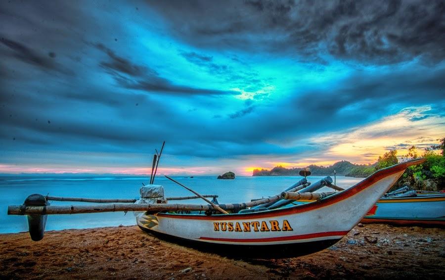 Fishermanr Boat by Yakkup Fauzan - Transportation Boats