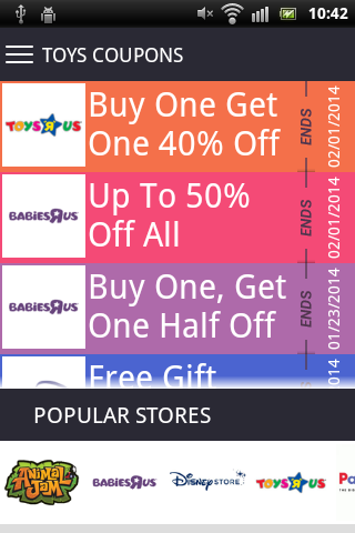 Toys Coupons