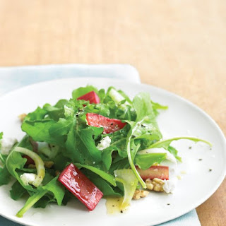Rhubarb Salad with Goat Cheese.