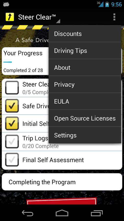 Steer Clear™ Mobile - screenshot