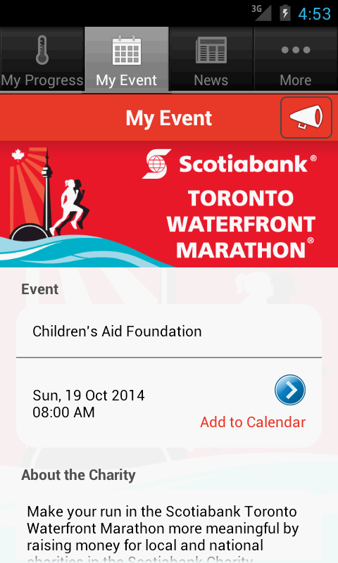 Scotiabank Charity Challenge - screenshot