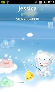 Rocket Caller ID Cloud Theme screenshot
