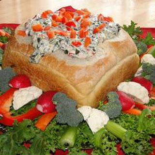 Hot Spinach Red Pepper Dip