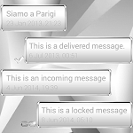 Theme Frame W Silver for SMS