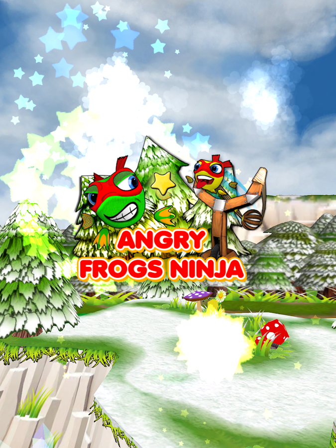 Angry Frogs Ninja- screenshot