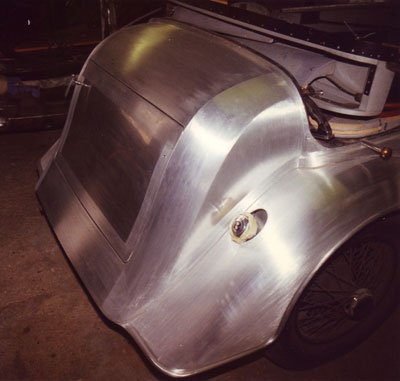Newly panelled 1935 Bentley, rear