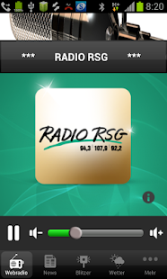 Radio RSG – Miniaturansicht des Screenshots