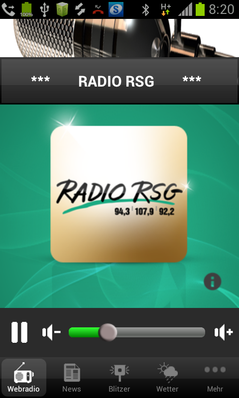 Radio RSG – Screenshot