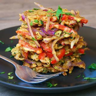 Indian Spiced Leftover Summer Vegetable Fritters.