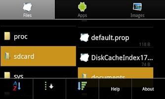 Screenshot of Explorer-Lite for Anroid