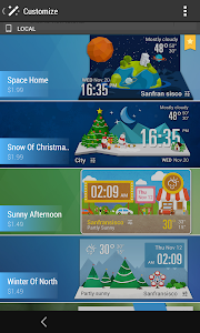 Green Flip Clock Style Weather screenshot 3