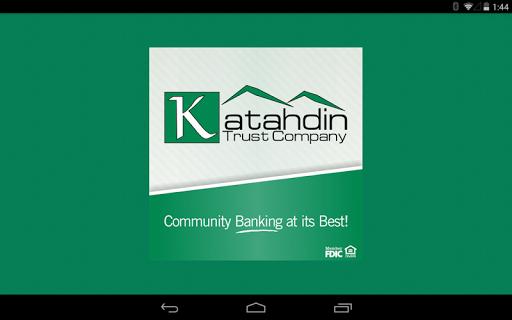 Katahdin Trust Tablet Banking